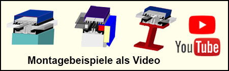 3D Video vom Glasbefstigungsprofilen