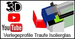 3D Traufe Glasdach Isolierglas