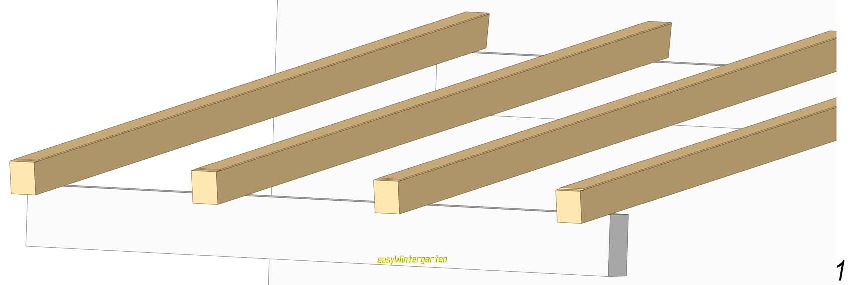 terrassenueberdachung selber bauen mit glasdach, Moderne