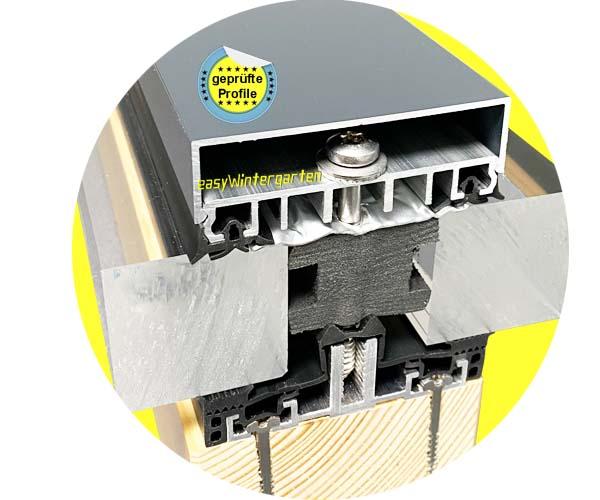 glasdach mit glasdachprofilen bei isolierglas als stufenglas. Black Bedroom Furniture Sets. Home Design Ideas