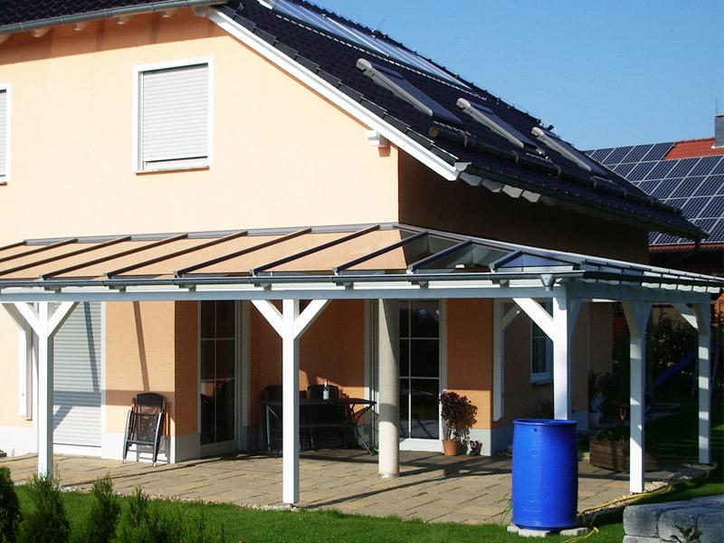 Terrassenüberdachung selbst bauen - mit Glasdach | eaysWintergarten