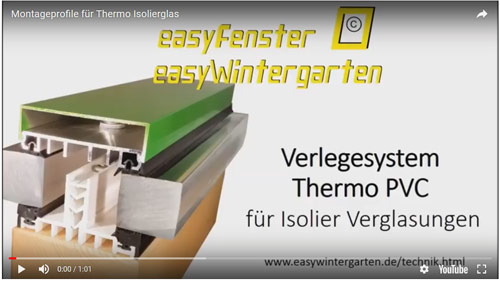 TGlasbefestigung - Thermo Montageprofile Video