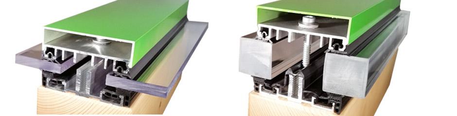 alu unterprofile verlegeprofile f r glas isoliert mit dichtung. Black Bedroom Furniture Sets. Home Design Ideas