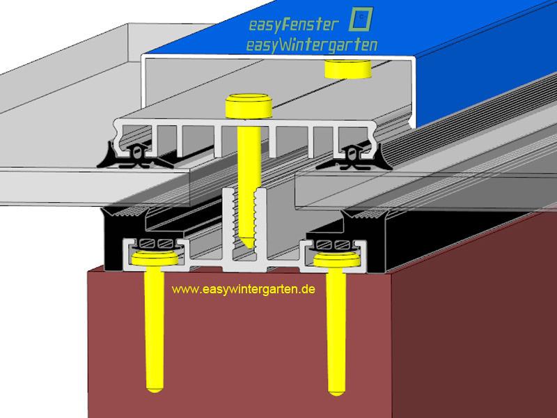 verlegeprofile f r doppelglas solarglas module. Black Bedroom Furniture Sets. Home Design Ideas