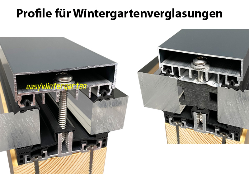 wintergarten glasadach mit holz und aluprofilen bauen bauanleitung. Black Bedroom Furniture Sets. Home Design Ideas