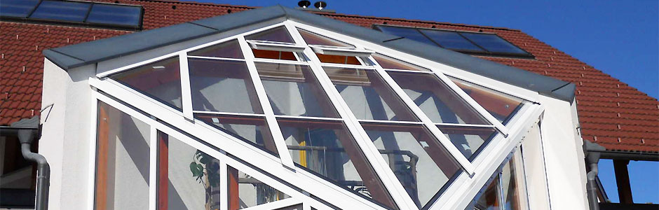 Glasmontageprofile für Glasdach mit Thermoglas