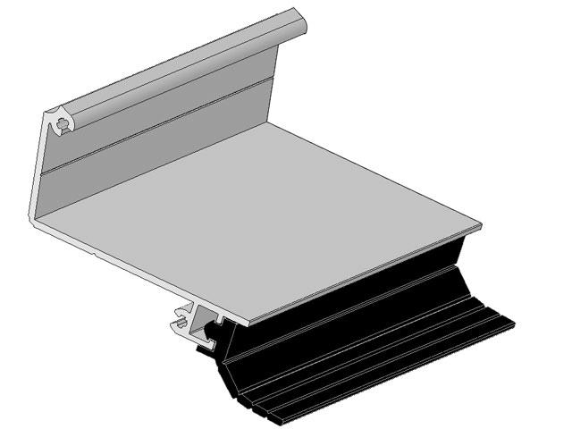 wandanschlu profil f r glasd cher. Black Bedroom Furniture Sets. Home Design Ideas