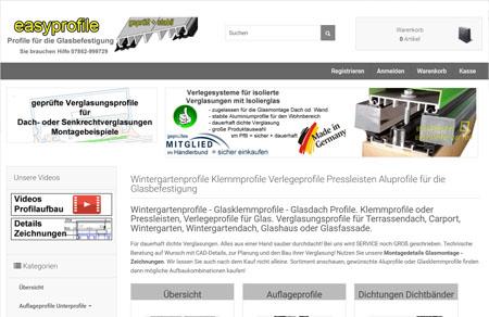 Online shop f r verlegeprofile mittelprofile glasklemmprofile - Holzsparren kaufen ...