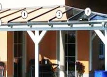 terrassen berdachung mit glas selbst bauen mit verlegeprofile. Black Bedroom Furniture Sets. Home Design Ideas