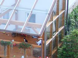 terrassenueberdachung selber bauen mit glasdach
